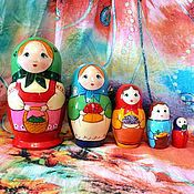 Русский стиль handmade. Livemaster - original item Matryoshka 5 local