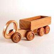 Куклы и игрушки handmade. Livemaster - original item Wooden car Trailer. Handmade.