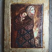 Иконы ручной работы. Ярмарка Мастеров - ручная работа Богородица с Младенцем. Handmade.