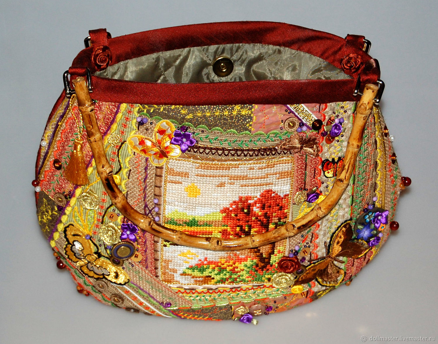 Bag-painting 'Monplaisir' (author's), Gifts for March 8, St. Petersburg,  Фото №1