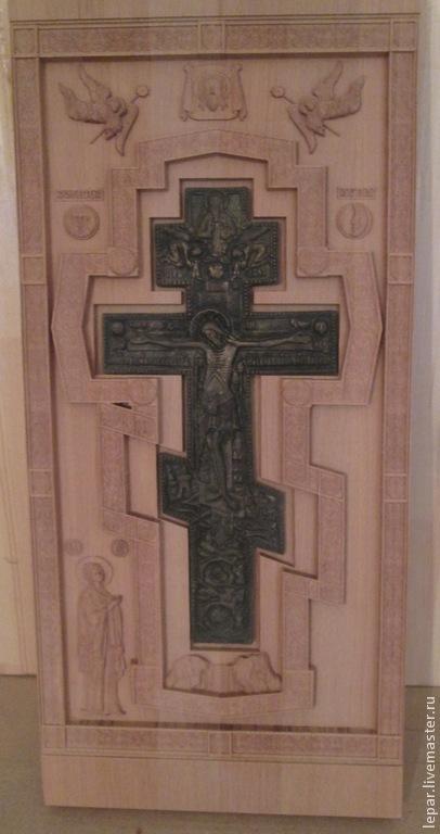 Иконы ручной работы. Ярмарка Мастеров - ручная работа. Купить Ставротека для Креста. Handmade. Коричневый, ставротека для креста, киоты