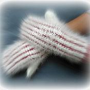 Аксессуары ручной работы. Ярмарка Мастеров - ручная работа ВАРЕЖКИ кроличий пух. Handmade.