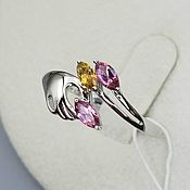 Украшения handmade. Livemaster - original item Silver ring with tourmalines. Handmade.