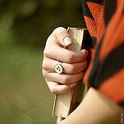 Украшения ручной работы. Ярмарка Мастеров - ручная работа Кольцо Клевер с листочком настоящего клевера. Handmade.