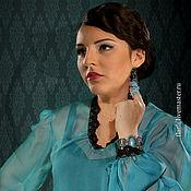 """Одежда ручной работы. Ярмарка Мастеров - ручная работа Блузка """"Аквамарин"""". Handmade."""