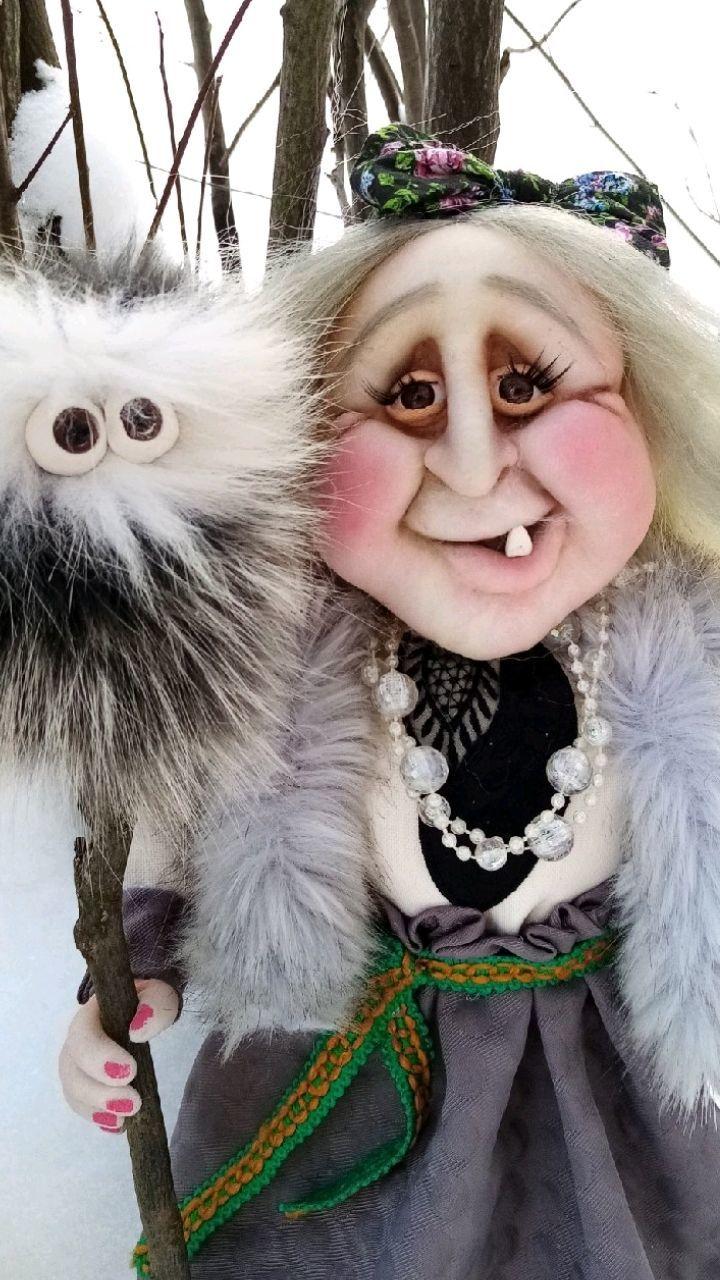 Бабка Ёжка, Портретная кукла, Сыктывкар,  Фото №1