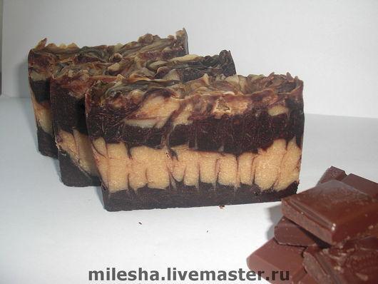 """Мыло ручной работы. Ярмарка Мастеров - ручная работа. Купить Мыло с нуля """"Шокомания"""" с натуральными какао бобами (остаток 1 кусок). Handmade."""