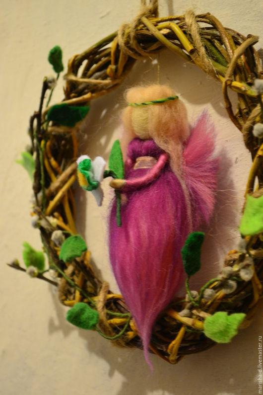 Вальдорфская игрушка ручной работы. Ярмарка Мастеров - ручная работа. Купить Весенние феечки. Handmade. Розовый, подвеска, для детей