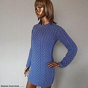 """Одежда ручной работы. Ярмарка Мастеров - ручная работа Вязаный свитер. """"Sky blue"""". Handmade."""