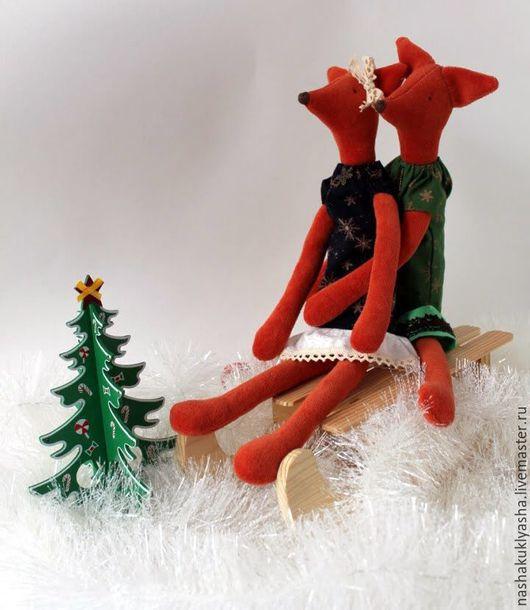 Куклы Тильды ручной работы. Ярмарка Мастеров - ручная работа. Купить Лис и Лисичка. Handmade. Рыжий, лис, подарок на новый год
