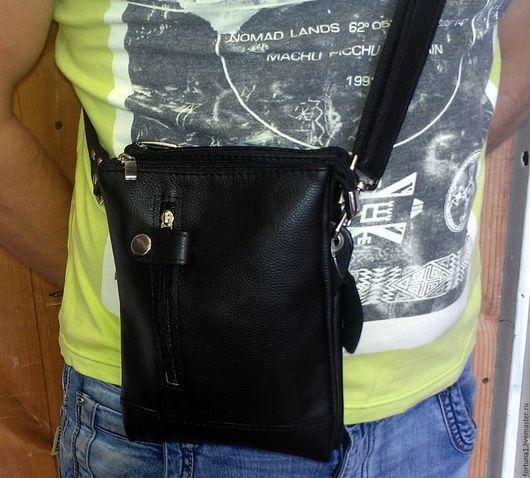 Мужские сумки ручной работы. Ярмарка Мастеров - ручная работа. Купить Сумка кожаная 105. Handmade. Черный, сумка кожаная