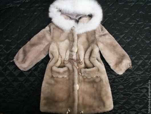 Одежда для девочек, ручной работы. Ярмарка Мастеров - ручная работа. Купить детская мутоновая шуба. Handmade. Бежевый, шубка, овчина