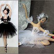 Куклы и игрушки ручной работы. Ярмарка Мастеров - ручная работа Балерины Черный лебедь и Белый лебедь. Handmade.
