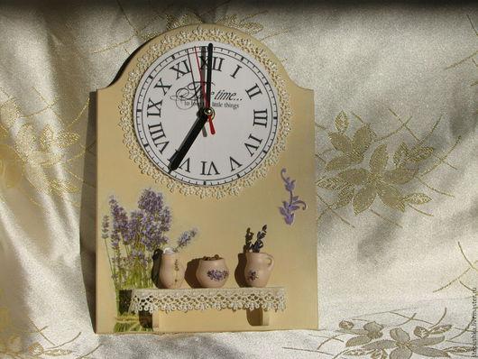 """Часы для дома ручной работы. Ярмарка Мастеров - ручная работа. Купить Часы настенные """" Утро в Провансе"""". Handmade. Лимонный"""