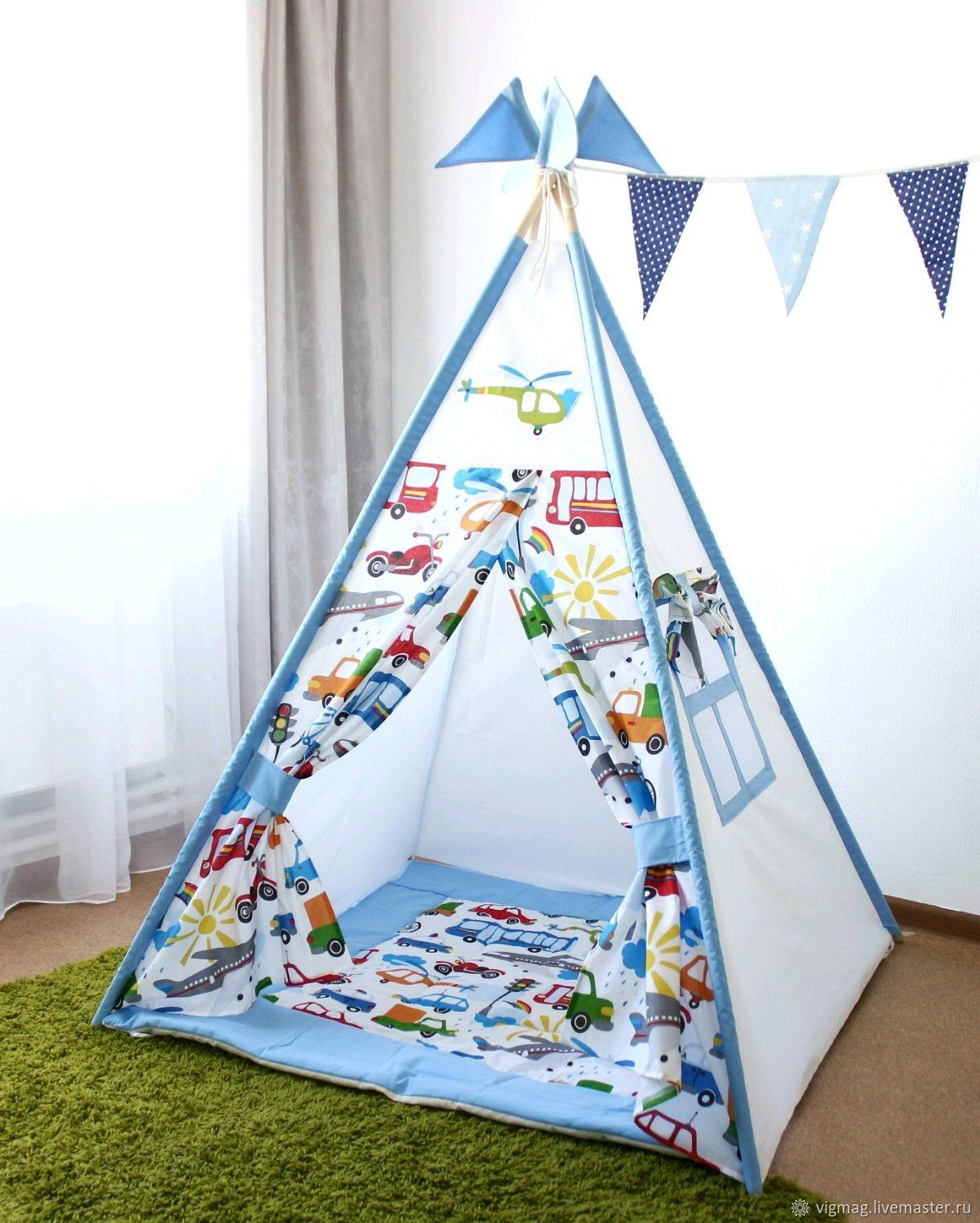 Wigwam for boys system anticlaudianus, play house, Nursery wigwam, Ivanovo,  Фото №1