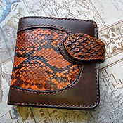 Сумки и аксессуары handmade. Livemaster - original item Men`s Python leather wallet with engraving, men`s leather wallet. Handmade.