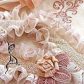 Одежда ручной работы. Ярмарка Мастеров - ручная работа Небо рассветное, нежное.. Бохо блуза блузка туника + пояс с брошью. Handmade.