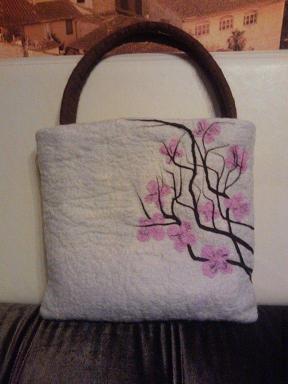 Bags & Accessories handmade. Livemaster - handmade. Buy Bag of felt 'cherry blossom' series (Japan).Felt, sakura