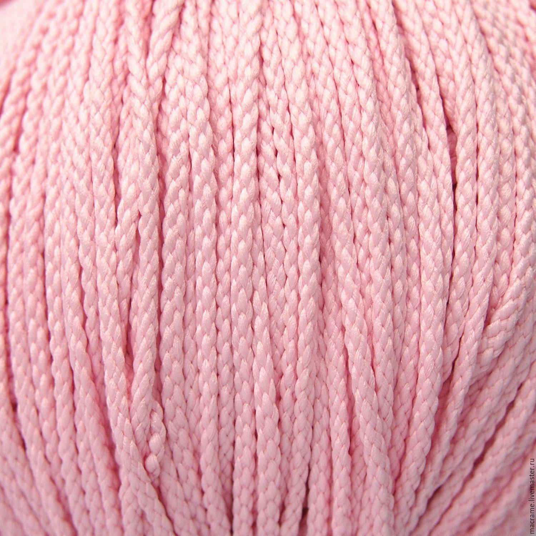 Шнур плетеный полиэфирный 3,5 мм бледно-розовый, Шнуры, Нижний Новгород,  Фото №1