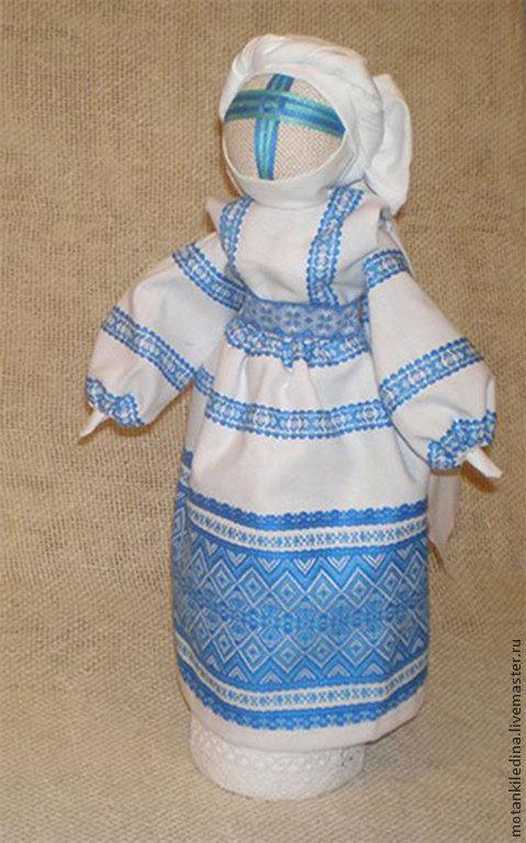 Народные куклы ручной работы. Ярмарка Мастеров - ручная работа. Купить Обережница. Мотанка-Оберег Домашнего очага. Handmade. Голубой