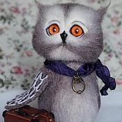 """Куклы и игрушки ручной работы. Ярмарка Мастеров - ручная работа Войлочная игрушка""""Совёнок-путешественник"""". Handmade."""