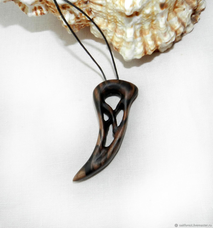 Pendant-Amulet made of wood 'bear's Fang' (Eben), Pendant, Domodedovo,  Фото №1