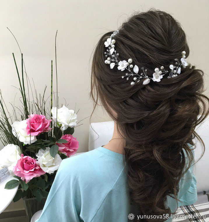 Bridal Hair Decoration With Flowers And Leaves Handmade Shop