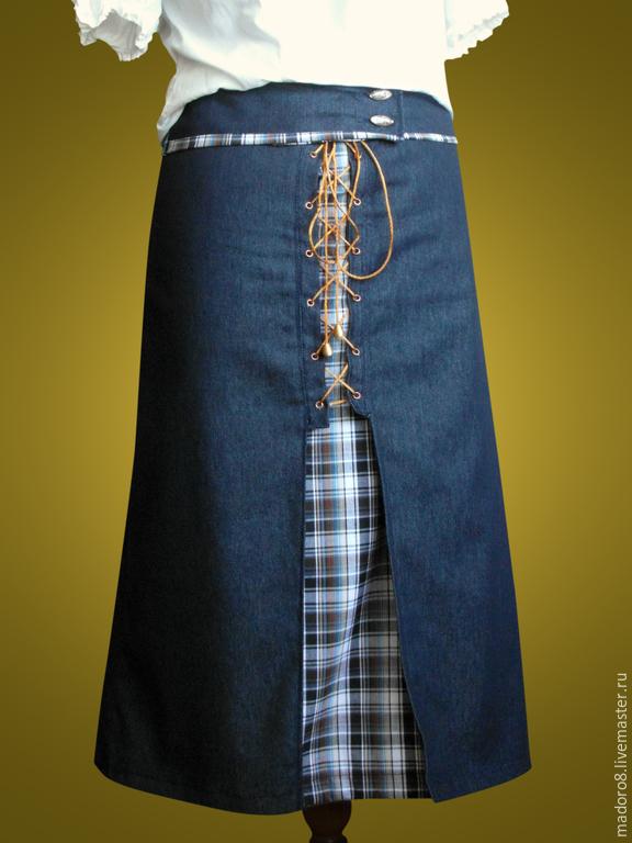 Джинсовая длинная юбка доставка