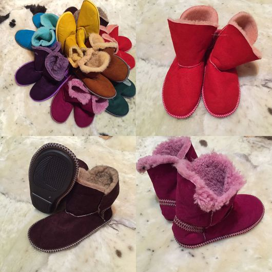 Обувь ручной работы. Ярмарка Мастеров - ручная работа. Купить Угги из овчины.Домашняя обувь натуральная.. Handmade. Домашние сапожки