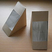 Материалы для творчества ручной работы. Ярмарка Мастеров - ручная работа Крафт-коробка для упаковки изделий ручной работы, сборная.. Handmade.