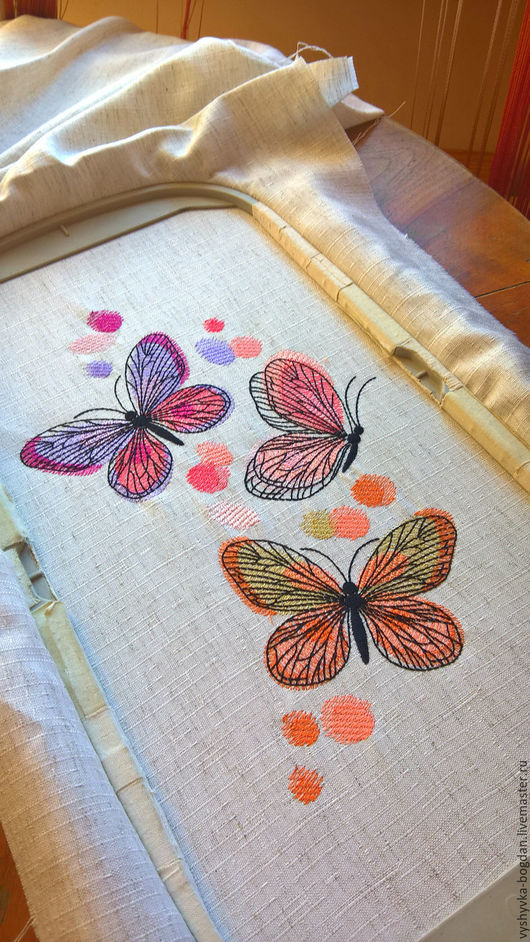 Buy Machine Embroidery Designs Spring Butterfly Bt198 On Livemaster Online Shop