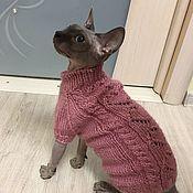 Одежда для питомцев ручной работы. Ярмарка Мастеров - ручная работа Одежда /свитер для кошек. Handmade.