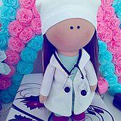 Тыквоголовка ручной работы. Ярмарка Мастеров - ручная работа Интерьерная куколка «Доктор». Handmade.