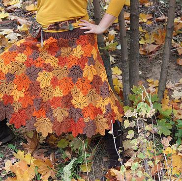 "Одежда ручной работы. Ярмарка Мастеров - ручная работа Юбка ""Осень - Рыжая Красавица"". Handmade."