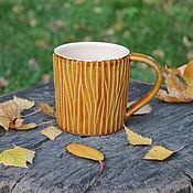 """Посуда ручной работы. Ярмарка Мастеров - ручная работа Кружка """"Осенний лес"""". Handmade."""