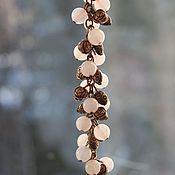 Украшения ручной работы. Ярмарка Мастеров - ручная работа Браслет с розовым кварцем. Handmade.
