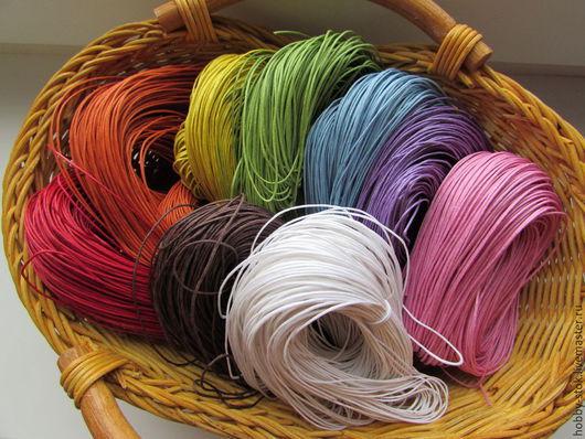 Для украшений ручной работы. Ярмарка Мастеров - ручная работа. Купить Шнур вощеный. Handmade. Разноцветный, шнур вощенный, шнурок