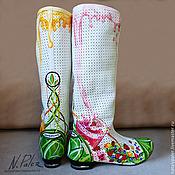 Обувь ручной работы handmade. Livemaster - original item Painting on shoes. Boots painted