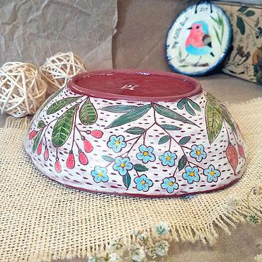 Посуда ручной работы. Ярмарка Мастеров - ручная работа Миска для каши. Handmade.
