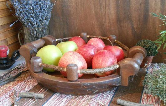Рустикальный стиль. Большая ваза для фруктов. Массив кедра. `LedaksDecor` -для уютного дома!