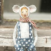 Подарки к праздникам ручной работы. Ярмарка Мастеров - ручная работа Ватная игрушка на ёлку Мышь. Handmade.