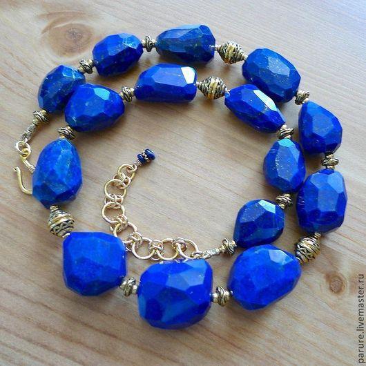 """Колье, бусы ручной работы. Ярмарка Мастеров - ручная работа. Купить Ожерелье """"Royal Blue"""" из очень крупного Лазурита (бусы из лазурита). Handmade."""