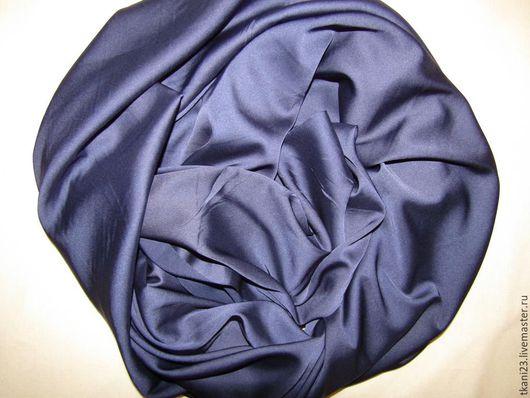 Шитье ручной работы. Ярмарка Мастеров - ручная работа. Купить Атлас шелк арт.14 АТШ-26 (Корея) темно-синий. Handmade.