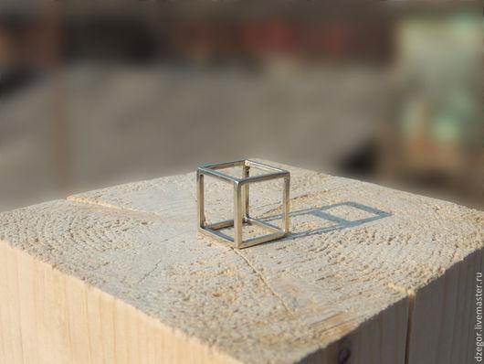 Кольца ручной работы. Ярмарка Мастеров - ручная работа. Купить Кольцо «Куб». Handmade. Кольцо ручной работы, интересное украшение