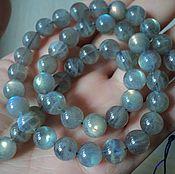 Материалы для творчества handmade. Livemaster - original item smooth labradorite beads 8mm. Handmade.