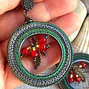 Украшения handmade. Livemaster - original item Earrings made of polymer clay Berry BOHO. Handmade.