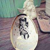 Ложки ручной работы. Ярмарка Мастеров - ручная работа Ложечка с ангелочком для крестника. Handmade.