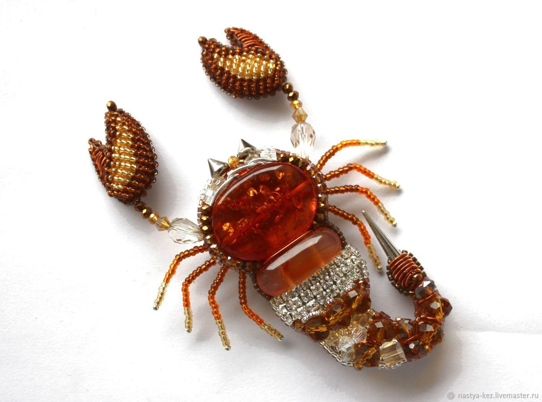 Brooch 'Scorpion honey', Brooches, Tver,  Фото №1