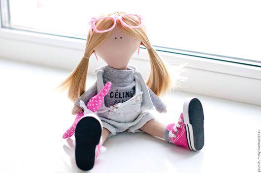 Коллекционные куклы ручной работы. Ярмарка Мастеров - ручная работа. Купить Кукла Кэтти. Handmade. Бледно-розовый, Джинсовая ткань