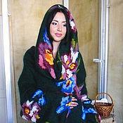 """Одежда ручной работы. Ярмарка Мастеров - ручная работа Платье-свитер """"Цветочное"""". Handmade."""